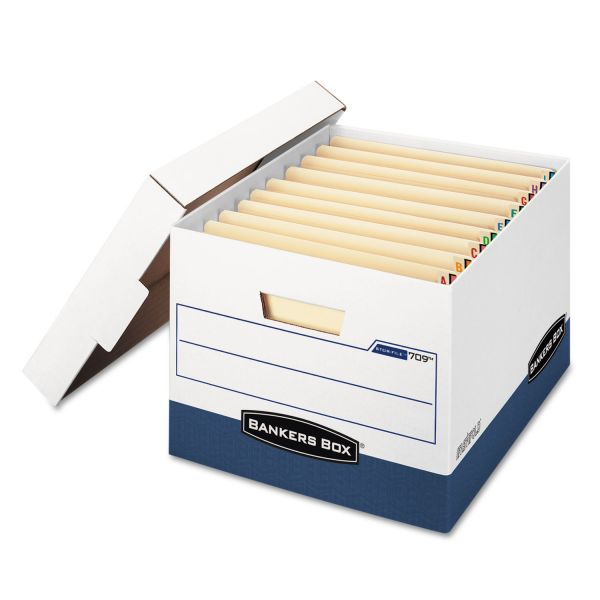 Bankers Box Stor/File END TAB Storage Boxes With Lift-Off Lids