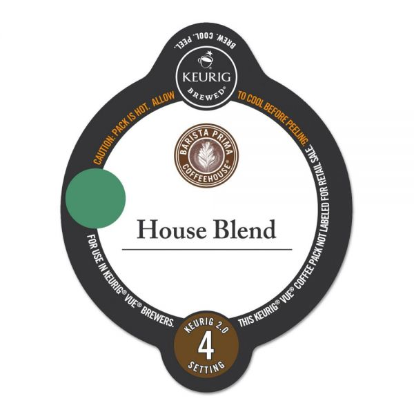 Barista Prima Coffeehouse House Blend Coffee Vue Pack