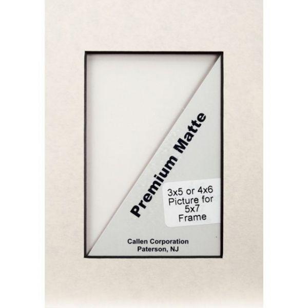 "Photo Mat 5""X7"" Single Hand-Cut W/Bevel Edge"