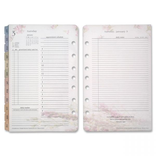 Franklin Covey Blooms Daily 2PPD Planner Refills