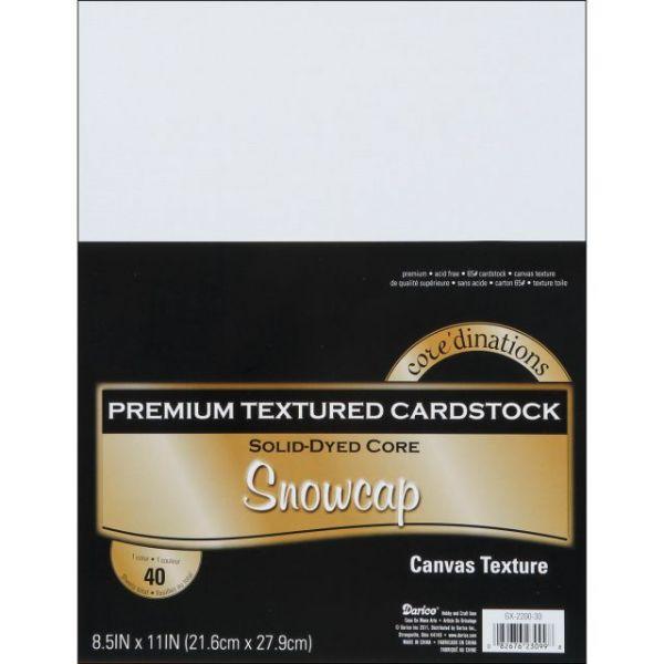 Core'dinations Premium Textured Snowcap Cardstock