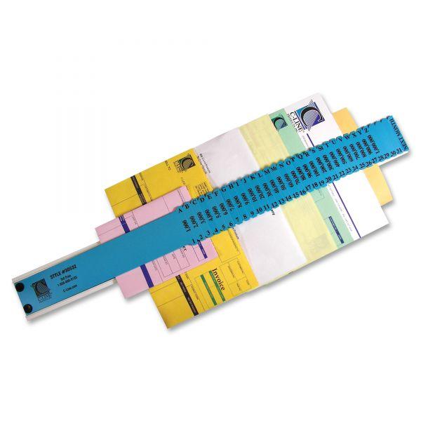 C-Line General Sorter, A-Z/1-31/1000-1,000,000 Index, Letter Size, Plastic, Blue