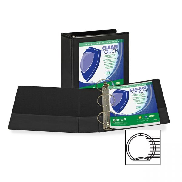 """Samsill Clean Touch 4"""" 3-Ring View Binder"""