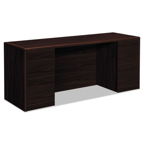 "HON 10700 Series Double Pedestal Credenza with Kneespace | 4 File Drawers | 72""W"