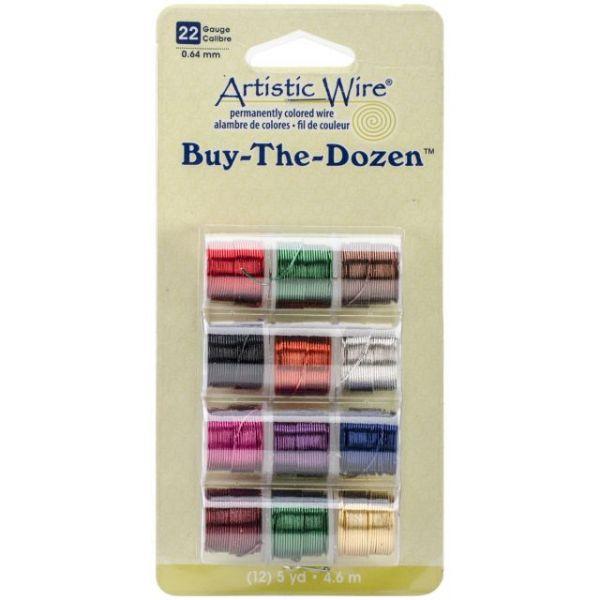 Beadalon Artistic Wire Buy-The-Dozen Colored Wire