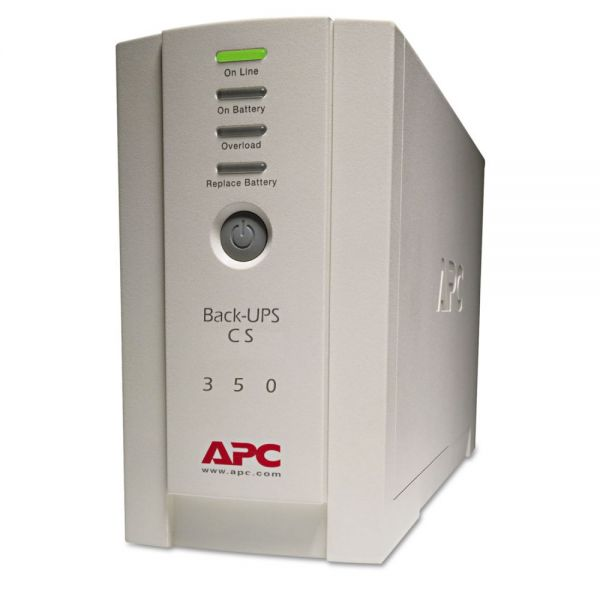 APC BK350 Back-UPS CS Battery Backup System, 6 Outlets, 350 VA, 1020 J