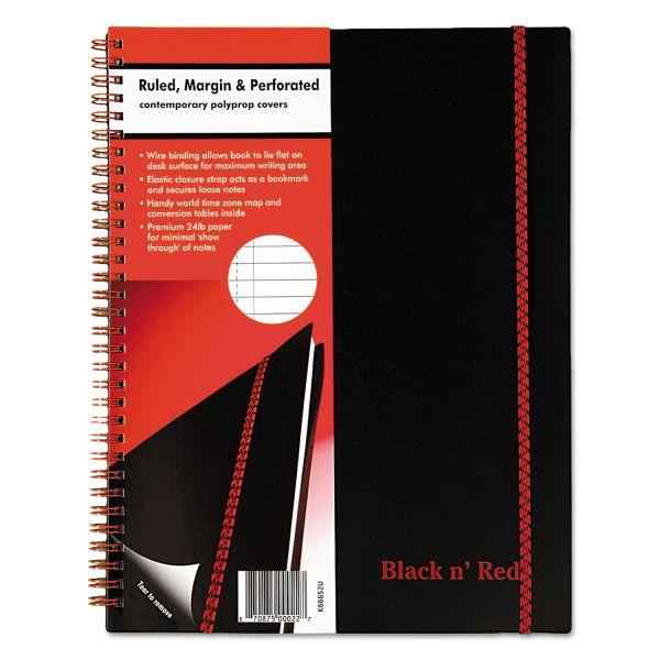 John Dickinson Black n' Red Wirebound Notebook
