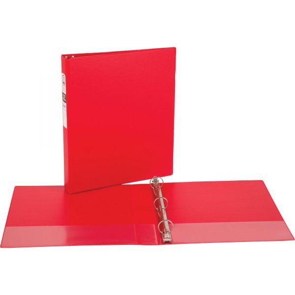 """Avery Economy Non-View Binder with Round Rings, 11 x 8 1/2, 1"""" Capacity, Red"""