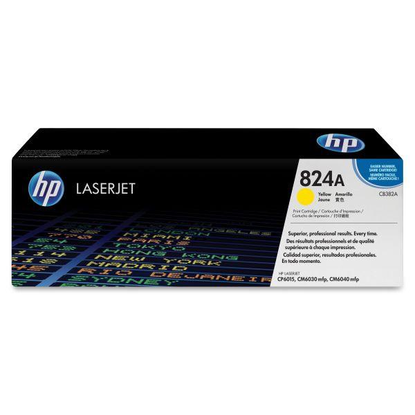 HP 824A Yellow Toner Cartridge (CB382A)
