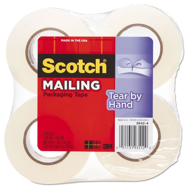 """Scotch Tear-By-Hand 2"""" Packing Tape"""