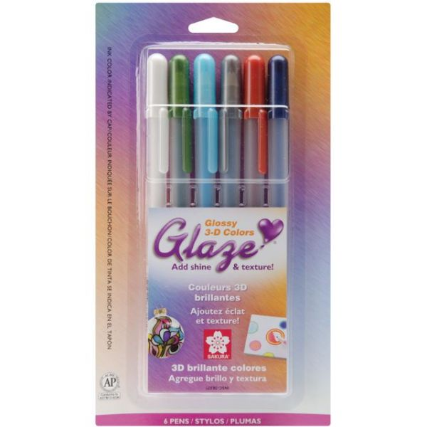 Gelly Roll Glaze Bold Point Pens 6/Pkg