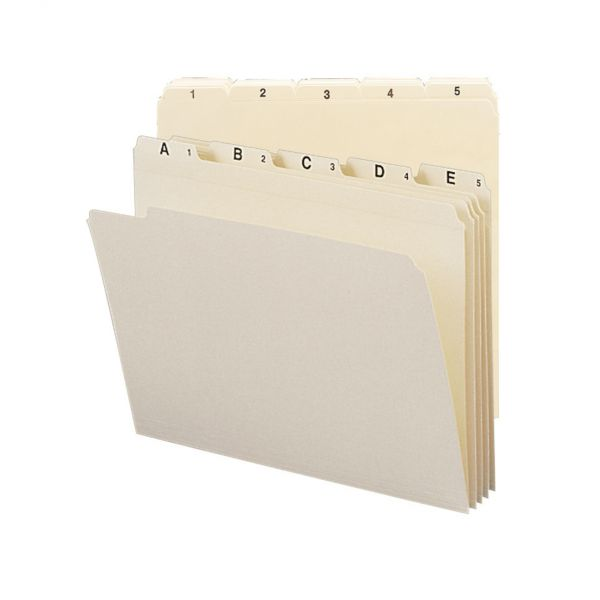 Smead Indexed Manila File Folders
