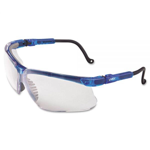 Uvex by Honeywell Genesis Eyewear, Vapor Blue Frame, Clear UD Lens