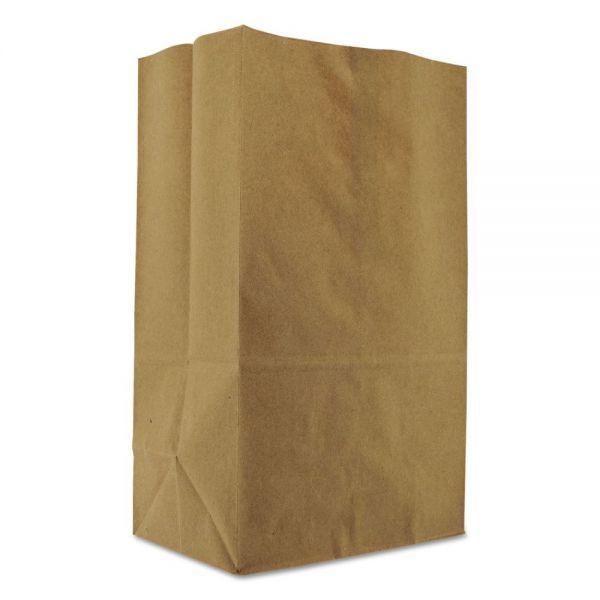 General 1/8 BBL Squat Brown Paper Grocery Bags