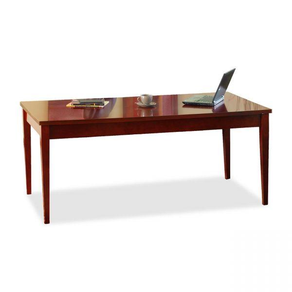 Mayline Luminary Series Wood Veneer Table Desk, 72w x 36d x 29h, Cherry