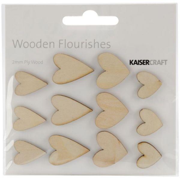 Wood Flourishes 12/Pkg