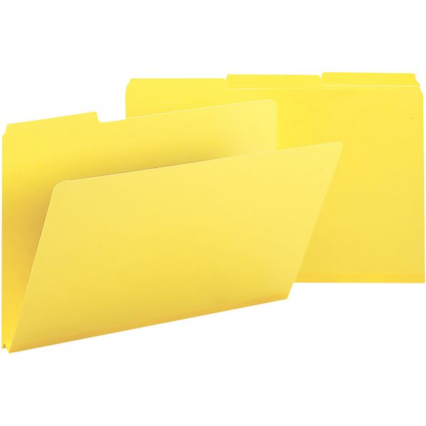 Smead Yellow Colored Pressboard File Folders