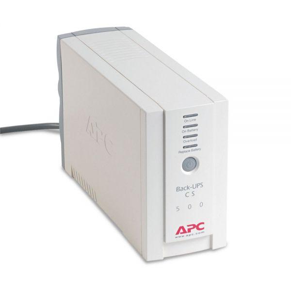 APC BK500 Back-UPS CS Battery Backup System, 6 Outlets, 500 VA, 480 J