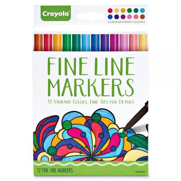 Crayola Contemporary Colors Fine Line Markers Set