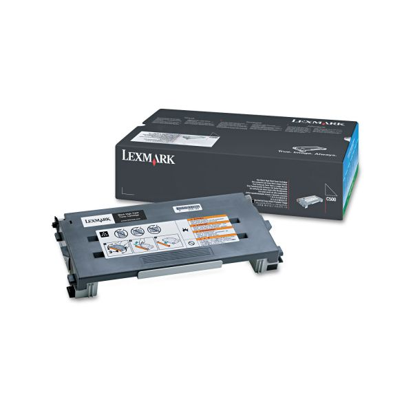 Lexmark C500H2KG Black High Yield Toner Cartridge