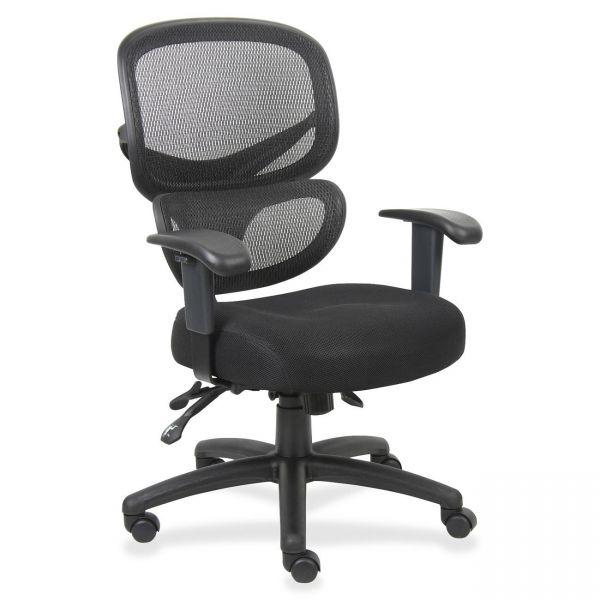Lorell Mesh-Back Fabric Executive Chair