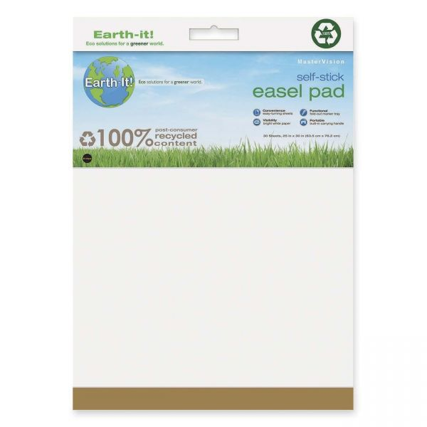 MasterVision Earth 100% PC Self-Stick Easel Pads