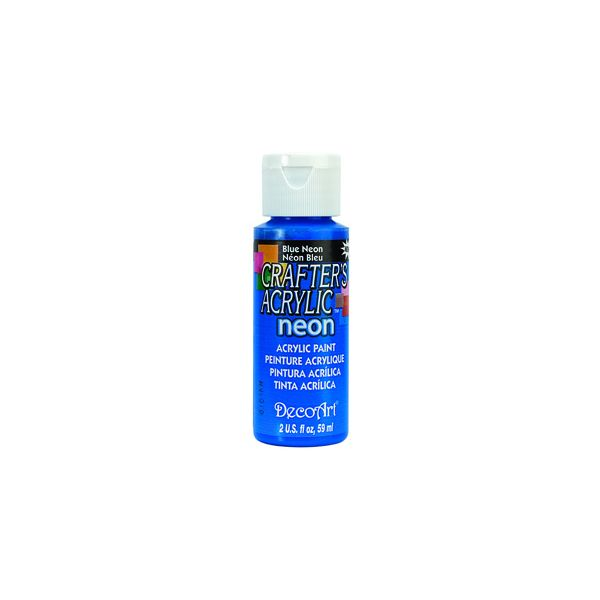 Deco Art Crafter's Acrylic Blue Neon Acrylic Paint