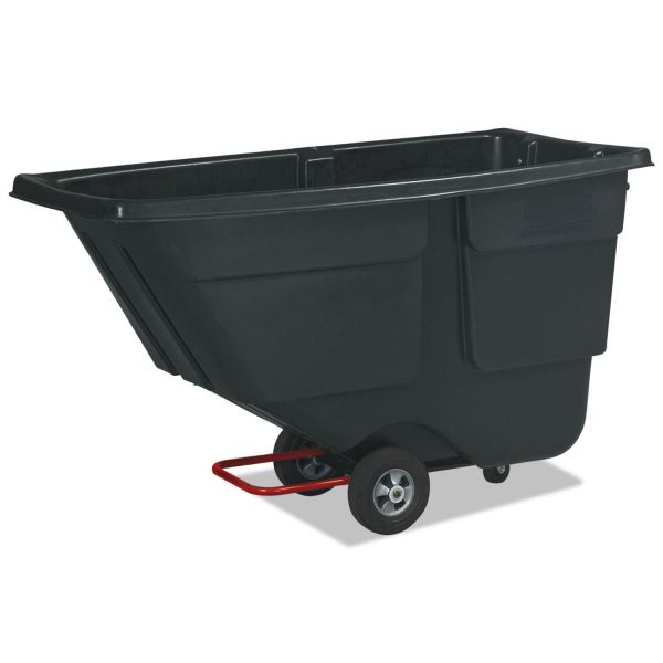Rubbermaid Rotomolded Tilt Truck, Plastic, 600 lb. Capacity, Black