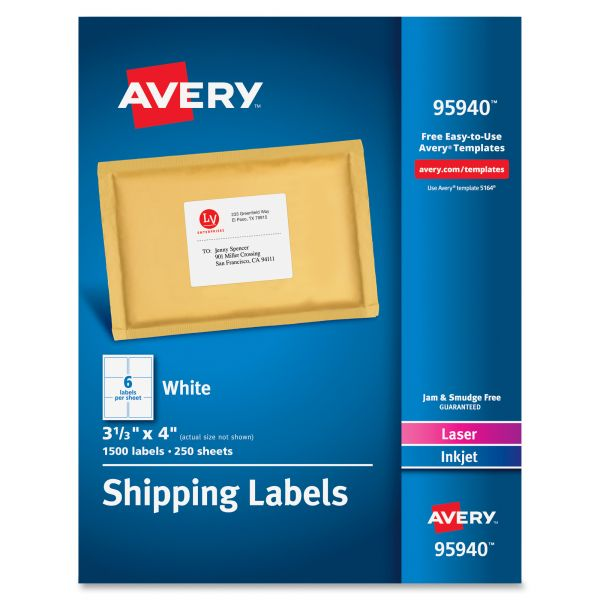 Avery 95940 Shipping Labels