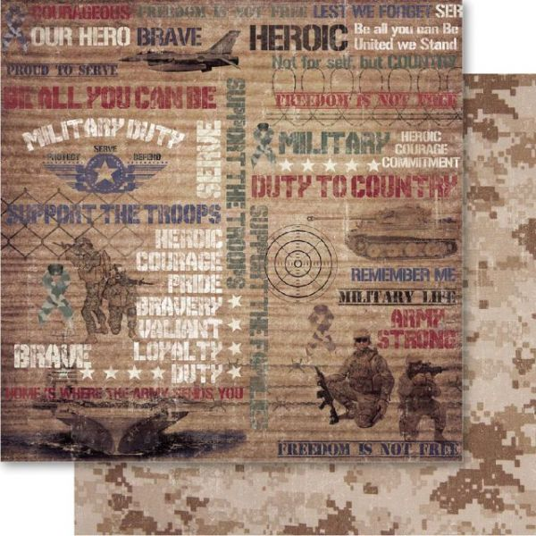 Military Double-Sided Cardstock