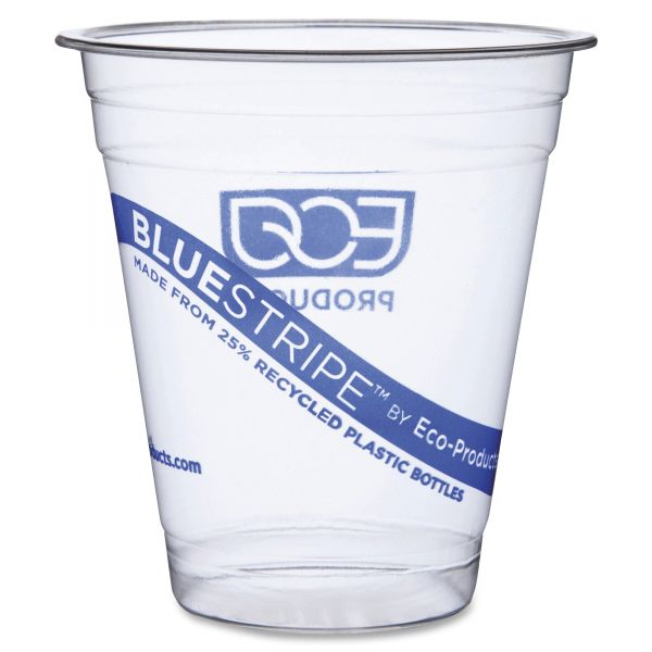 Eco-Products Blue Stripe 12 oz Plastic Cups