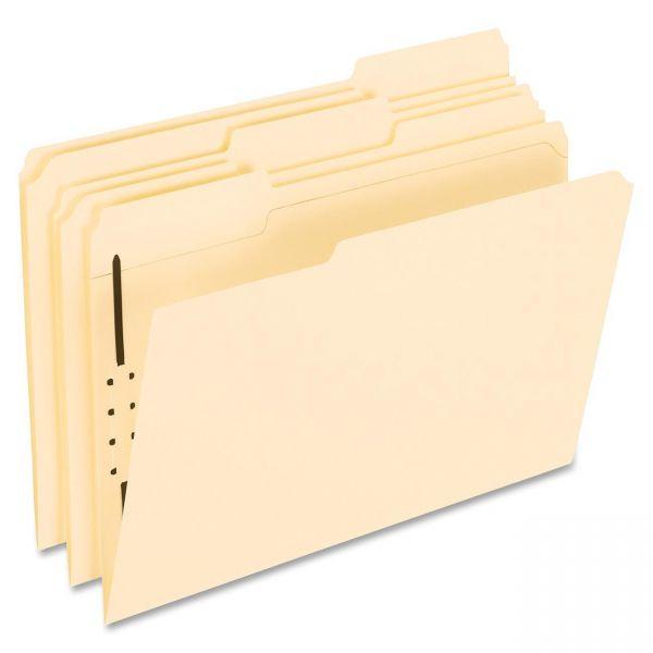 Pendaflex Fastener Folders, 1 Fastener, 1/3 Cut Tabs, Letter, Manila, 50/Box