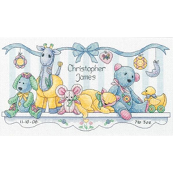 Dimensions Baby Hugs Baby's Friends Birth Record Counted Cross Stitch Kit