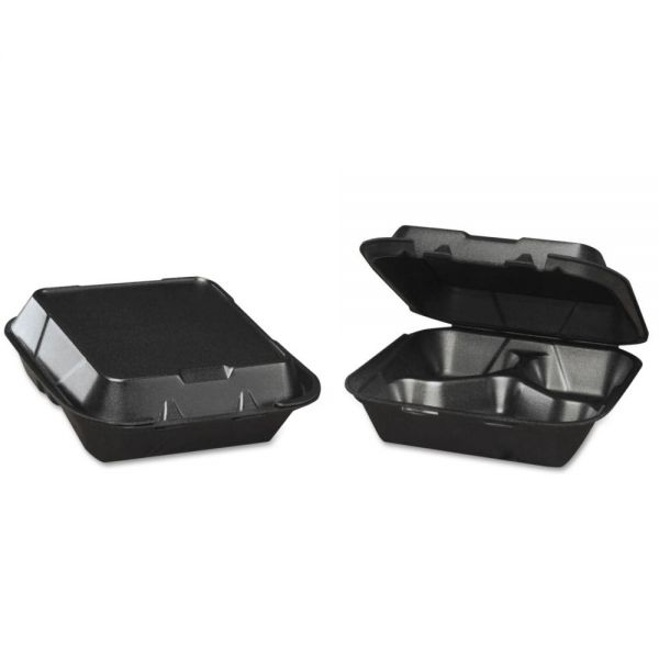 Genpak Snap-It Takeout Foam Clamshell Food Containers
