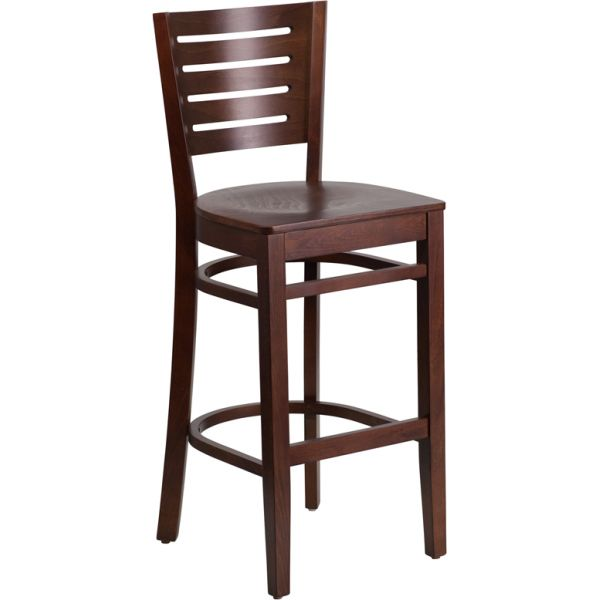 Flash Furniture Darby Series Slat Back Wooden Barstool