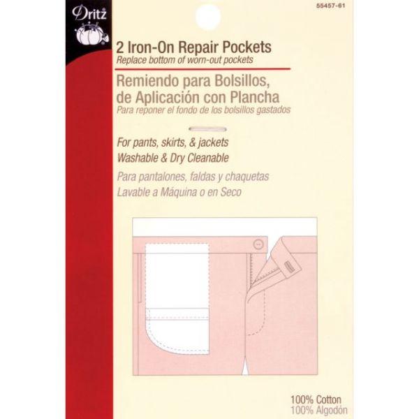"Iron-On Pockets 6-1/2""X4"" 2/Pkg"