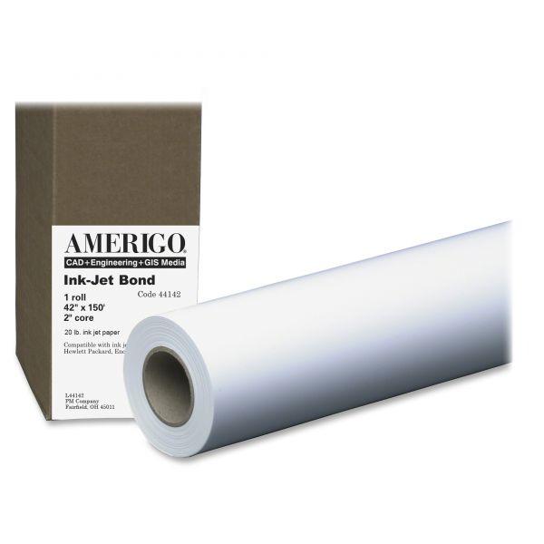 "PM Company Amerigo Inkjet 42"" Wide Format Bond Paper Roll"