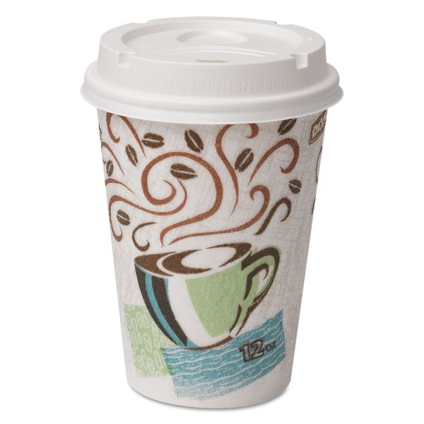 Dixie 12 oz Paper Coffee Cups with Lids