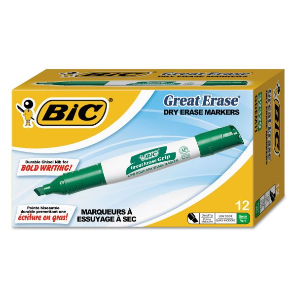 BIC Great Erase Grip Dry Erase Markers