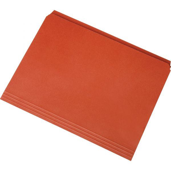 SKILCRAFT Orange Colored File Folders