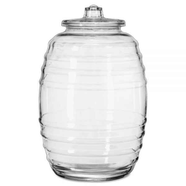 Libbey Glass Barrel with Lid