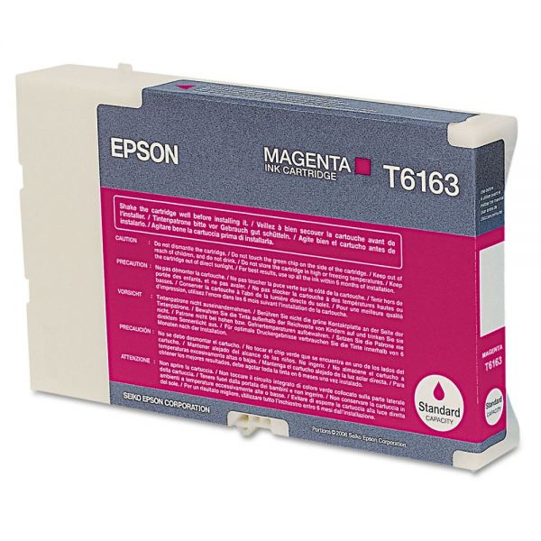 Epson T6163 Magenta Ink Cartridge (T616300)