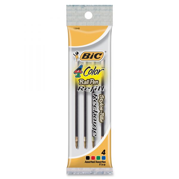BIC 4-Color Retractable Ballpoint Pen Refills