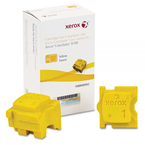 Xerox 108R00992 Ink Sticks, 4200 Page-Yield, Yellow, 2/Box