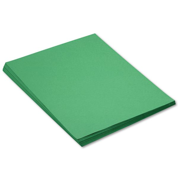 SunWorks Construction Paper, 58 lbs., 18 x 24, Holiday Green, 50 Sheets/Pack