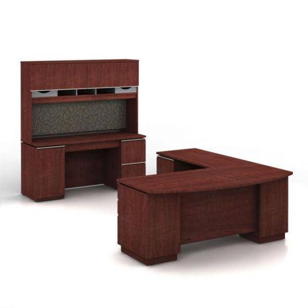 bbf Milano Executive Configuration - Harvest Cherry finish by Bush Furniture