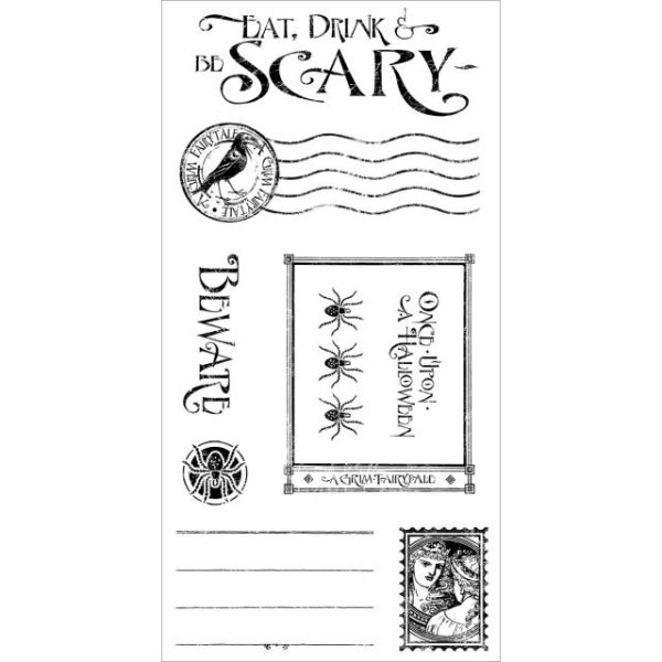 Graphic 45 An Eerie Tale Cling Stamps