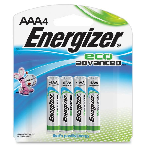 Energizer Eco Advanced Batteries, AAA, 4/Pk
