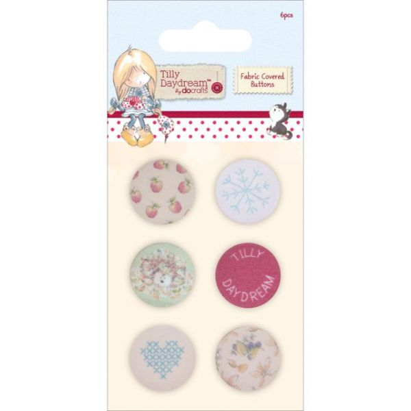 Tilly Daydream Fabric Covered Buttons 25mm 6/Pkg