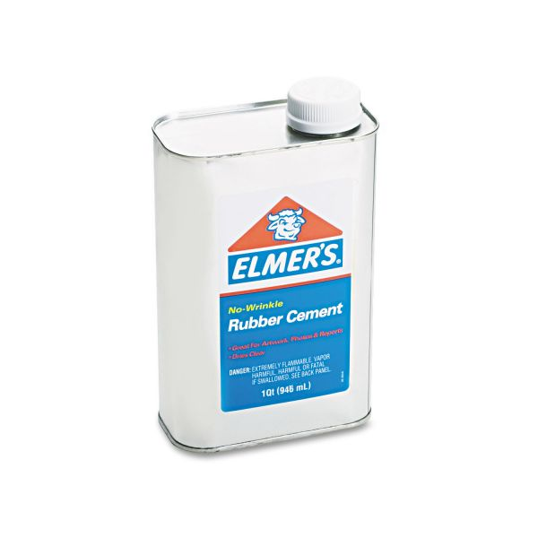 Elmer's Rubber Cement, Repositionable, 1 qt